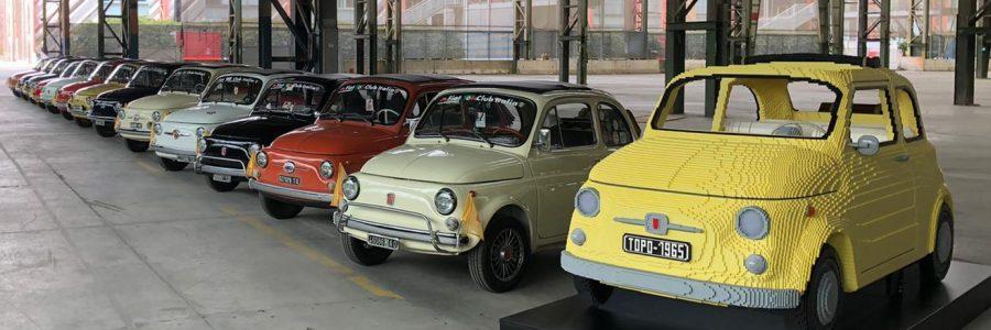 La leggendaria Fiat 500F in scala 1:1 e tutta di Lego. Fiat e Lego hanno presentato il modello allo Spazio MRF